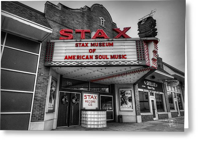Memphis - Stax Records 001 Ck Greeting Card by Lance Vaughn