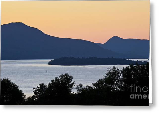 Memphremagog Twilight Greeting Card