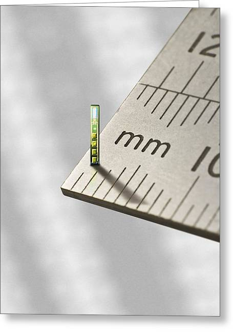 Mems Chip, Artwork Greeting Card by Science Photo Library