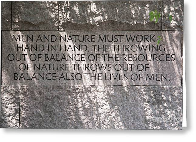 Men And Nature Greeting Card