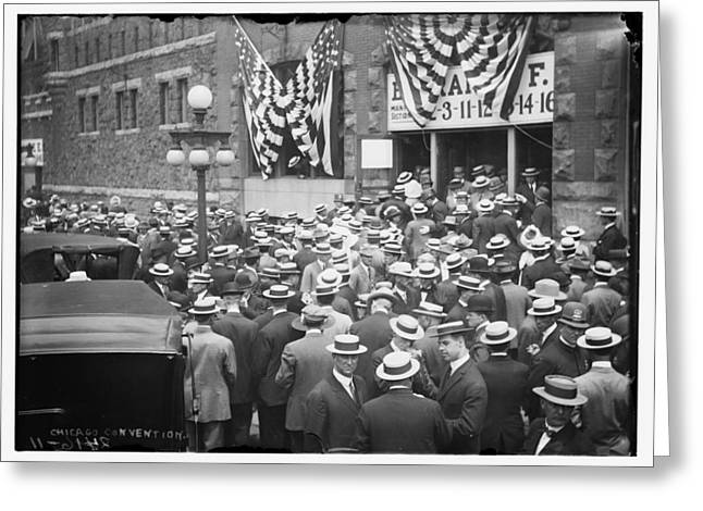 Men At 1912 Republican National Convention Greeting Card