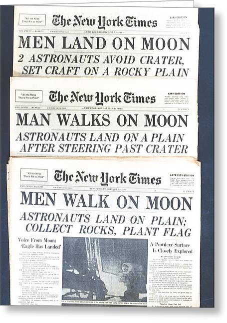 Men Walk On The Moon Greeting Card