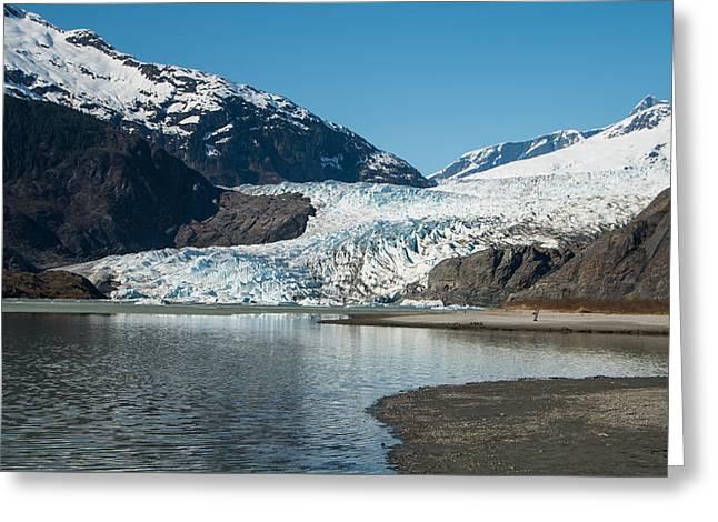 Mendenhall Glacier In Alaska Greeting Card