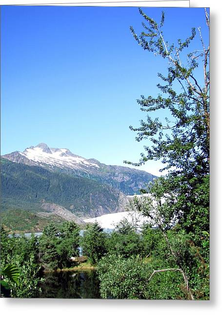 Greeting Card featuring the photograph Mendenhall Glacier by Jennifer Wheatley Wolf