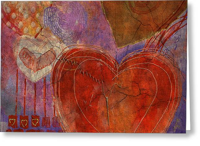 Greeting Card featuring the digital art Mending A Broken Heart by Arline Wagner