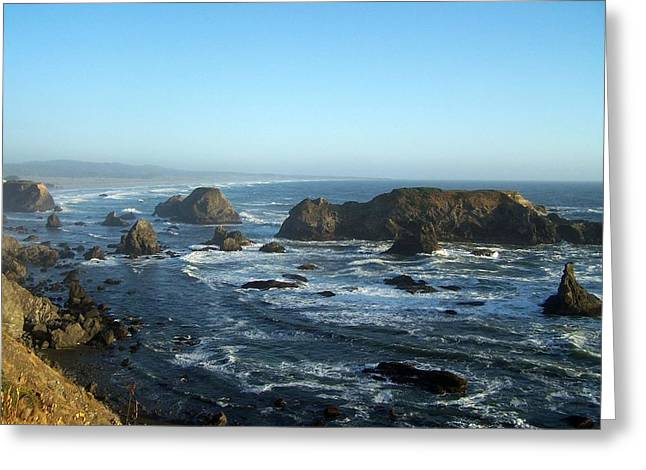 Mendocino Coast Greeting Card by Dianne Stopponi