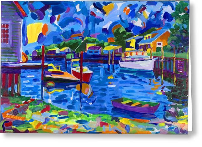 Menemsha Row Boat Greeting Card by Michael Phelps Morse