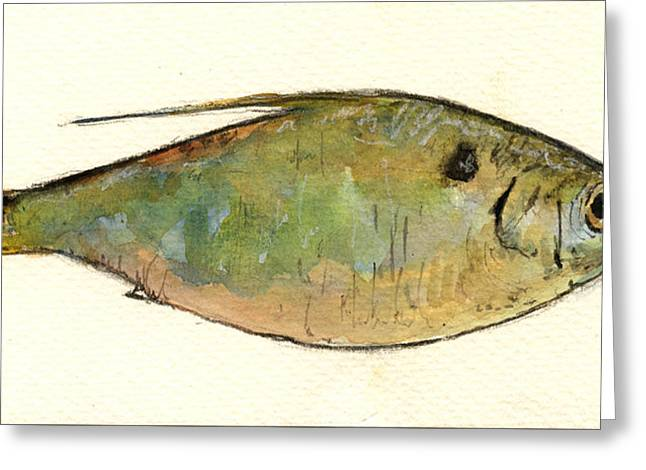 Menhaden Fish Greeting Card by Juan  Bosco