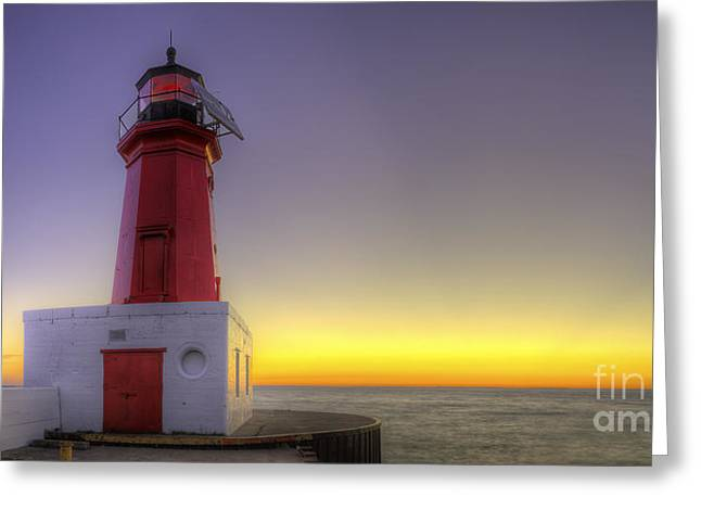 Menominee Lighthouse At Sunrise Greeting Card