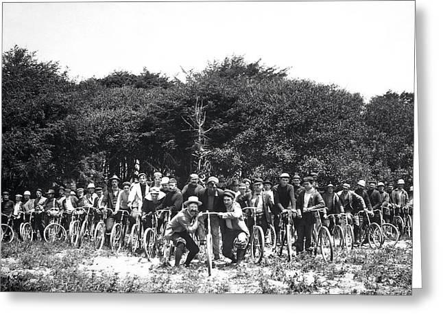 Mens Bicycle Club Greeting Card