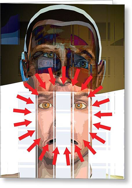 Mental Disorder, Conceptual Artwork Greeting Card by Science Photo Library