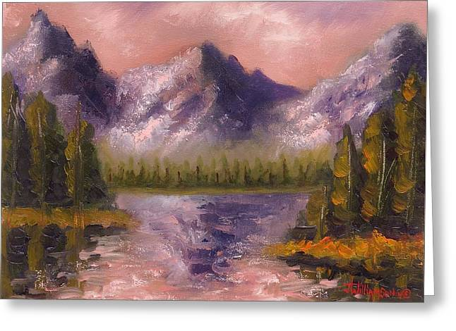 Greeting Card featuring the painting Mental Mountain by Jason Williamson