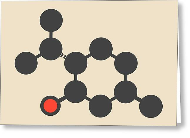 Menthol Molecule Greeting Card