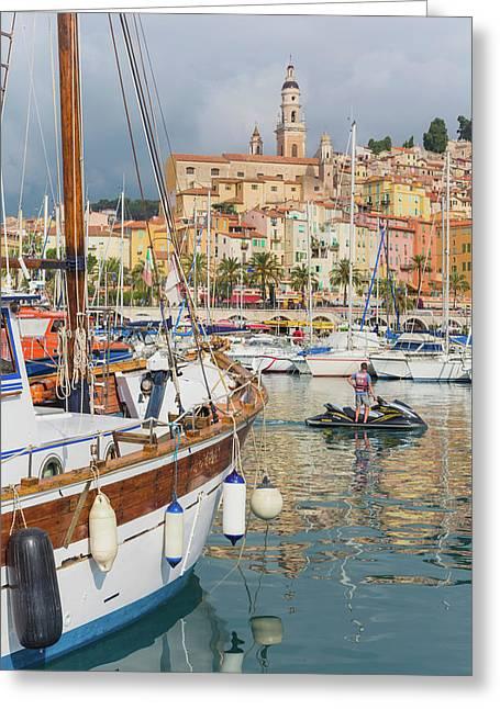 Menton, Cote Dazur, French Riviera Greeting Card
