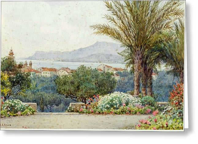 Mentone And Monte Carlo From The Capo Bordighera Greeting Card by MotionAge Designs