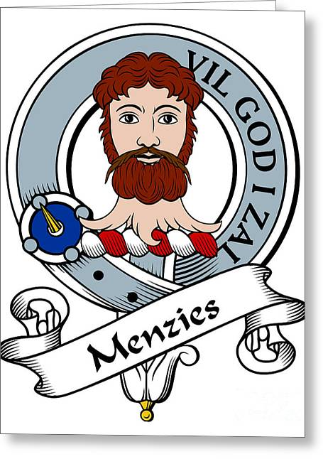 Menzies Clan Badge Greeting Card by John Lehman