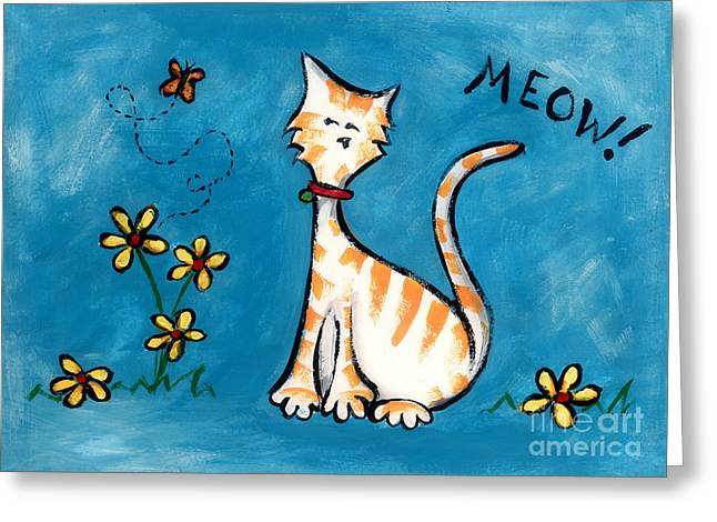 Meow Greeting Card by Diane Smith