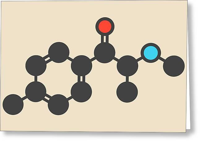 Mephedrone Molecule Greeting Card by Molekuul