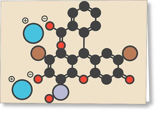 Merbromin Topical Antiseptic Molecule Greeting Card by Molekuul
