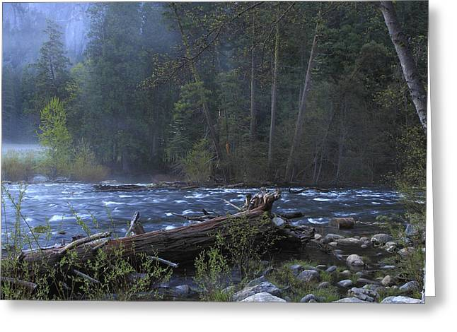 Merced River Greeting Card by Duncan Selby