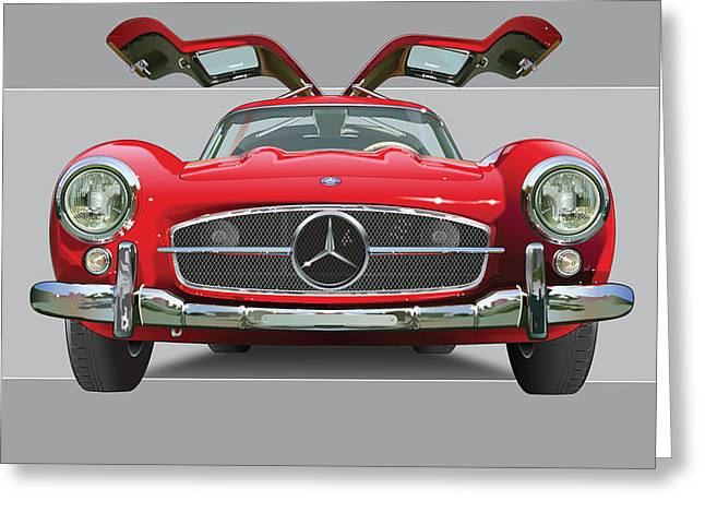 Mercedes 300 Sl Gull Wing Greeting Card