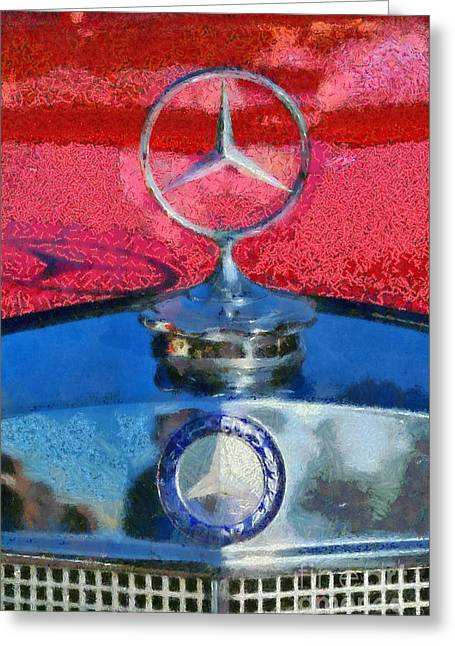 Mercedes Badge Greeting Card