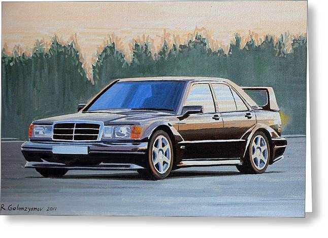 Mercedes benz 190e evolution ii painting by ildus galimzyanov for Mercedes benz card