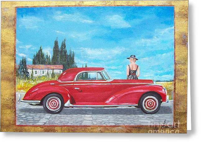 Mercedes-benz 300 Coupe Greeting Card