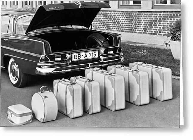 Mercedes-benz And Luggage Greeting Card