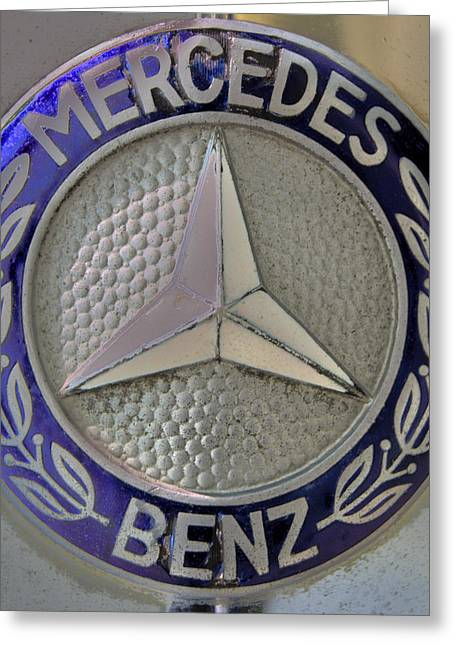 Mercedes Benz Badge Blue Greeting Card