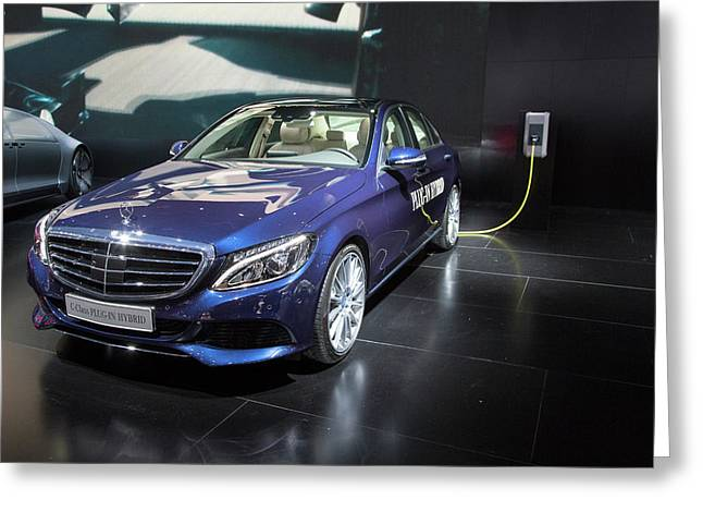 Mercedes-benz C-class Plug-in Hybrid Car Greeting Card