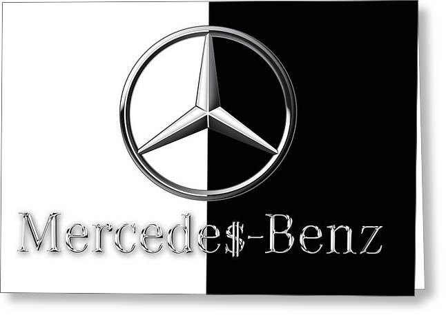 Mercedes-benz Logo Greeting Card