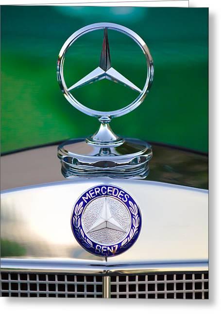 Mercedes Benz Hood Ornament 3 Greeting Card