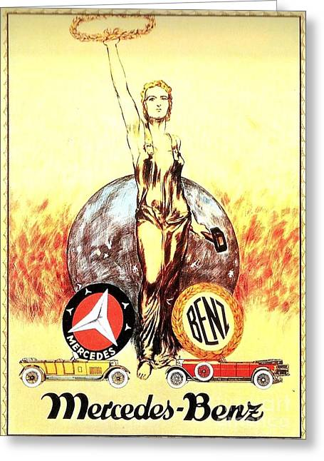 Mercedes Benz - Poster 1926 Greeting Card by Roberto Prusso