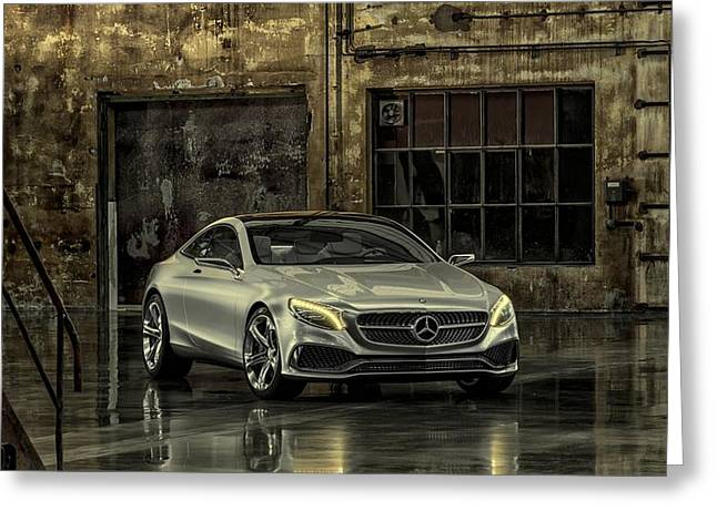 Mercedes Benz S Class Coupe 2013 Greeting Card