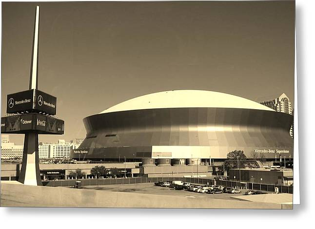 Mercedes Benz Superdome - New Orleans La Greeting Card