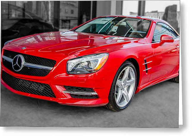 Mercedes Sl550   7d01718 Greeting Card
