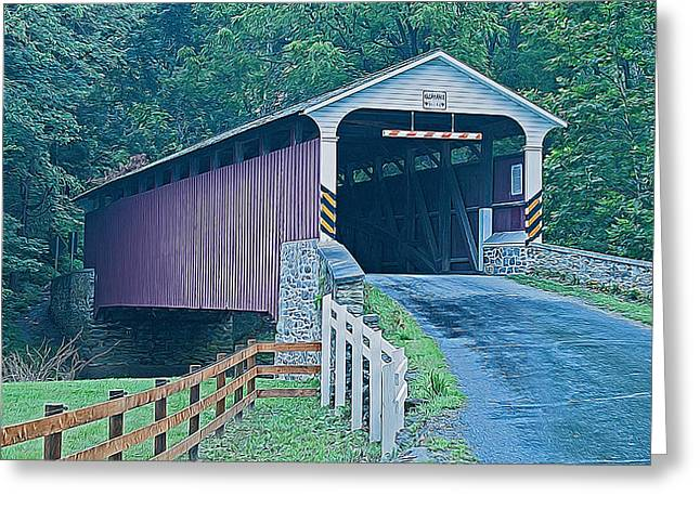 Mercer's Mill Covered Bridge Greeting Card