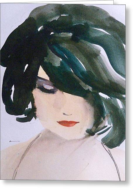 Greeting Card featuring the painting Merci Mon Cheri by Ed  Heaton