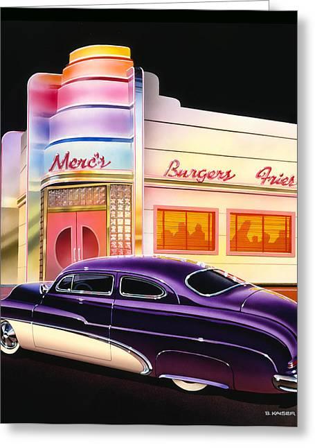 Mercs Burgers Greeting Card