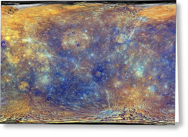 Mercury Greeting Card by Nasa/johns Hopkins University Applied Physics Laboratory/carnegie Institution Of Washington