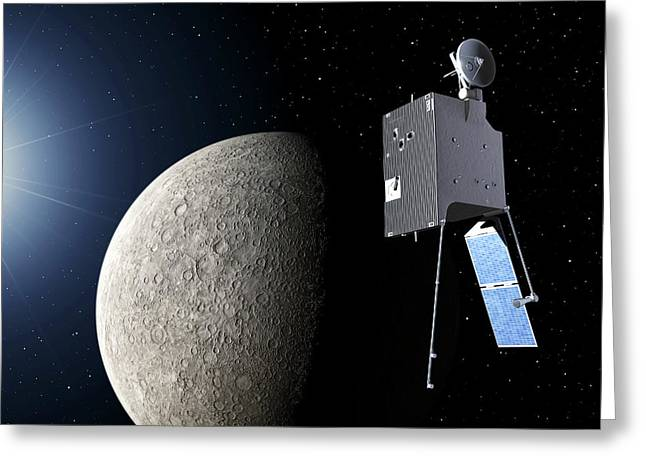 Mercury Planetary Orbiter Greeting Card by Esa - P. Carril