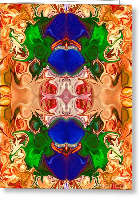 Greeting Card featuring the digital art Merging Consciousness With Abstract Artwork By Omaste Witkowski  by Omaste Witkowski