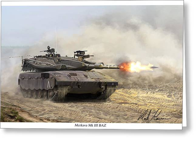 Merkava Mk IIi Baz Greeting Card by Mark Karvon