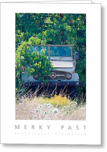 Greeting Card featuring the digital art Merky Past Beautifully Distressed Poster by David Davies