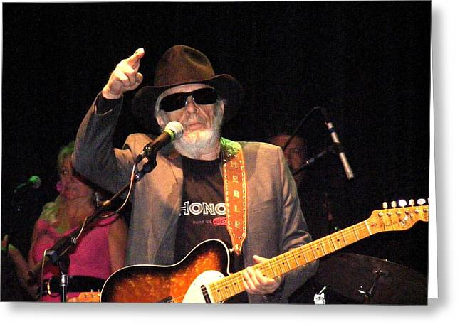 Merle Haggard In Concert Greeting Card by Kelly Mac Neill