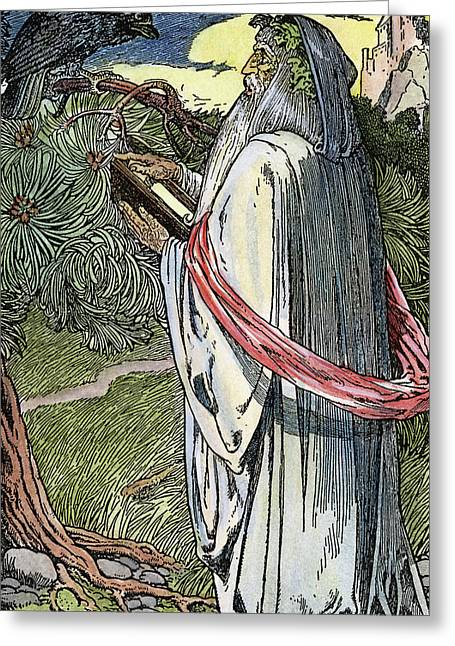Merlin The Magician, 1923 Greeting Card by Granger