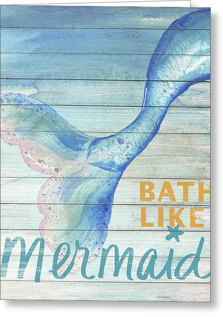 Mermaid Bath I Greeting Card
