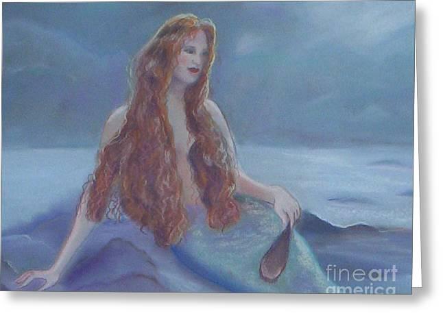 Mermaid In Moonlight Greeting Card