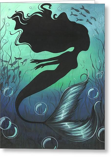 Mermaid Of The Deep Sea Greeting Card